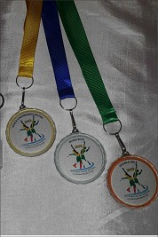 Crystal medals printed and frosted finish