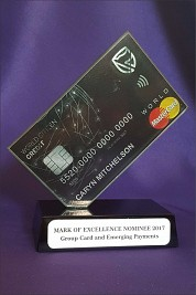 Glass Credit Card Trophy