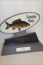 Silver Wood and Glass award for Biggest Carp