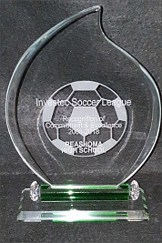 Soccer Award with Green Base Detail